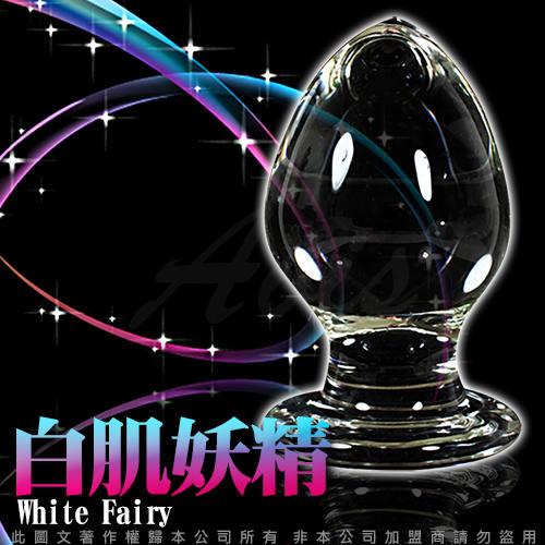 GLASS 重量級 白肌妖精 肛塞 玻璃水晶後庭冰火棒 Anus 32