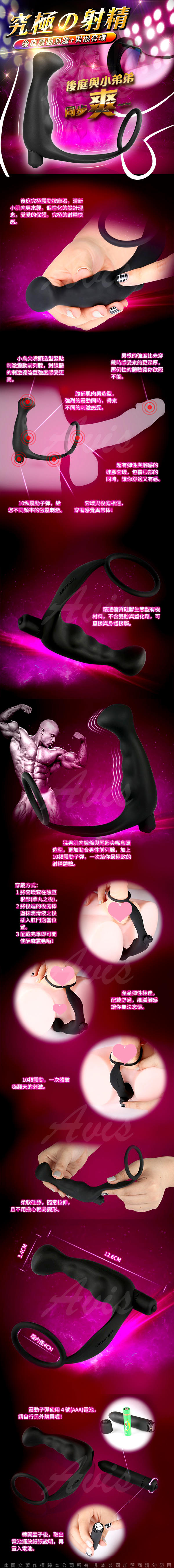 究極射精 10段變頻震動鎖精後庭前列腺震動器