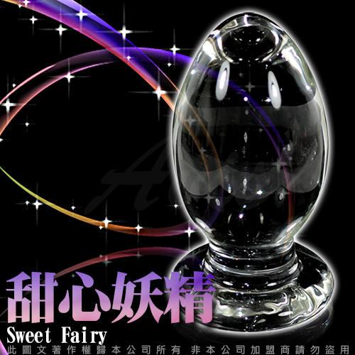 GLASS 重量級 甜心妖精 肛塞 玻璃水晶後庭冰火棒 Anus 46