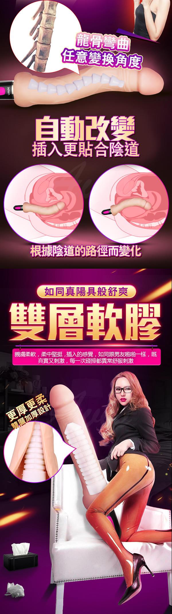 香港LETEN 肉搏戰士 3X7頻 內外雙震 智能加溫 仿真陽具按摩棒 神將款